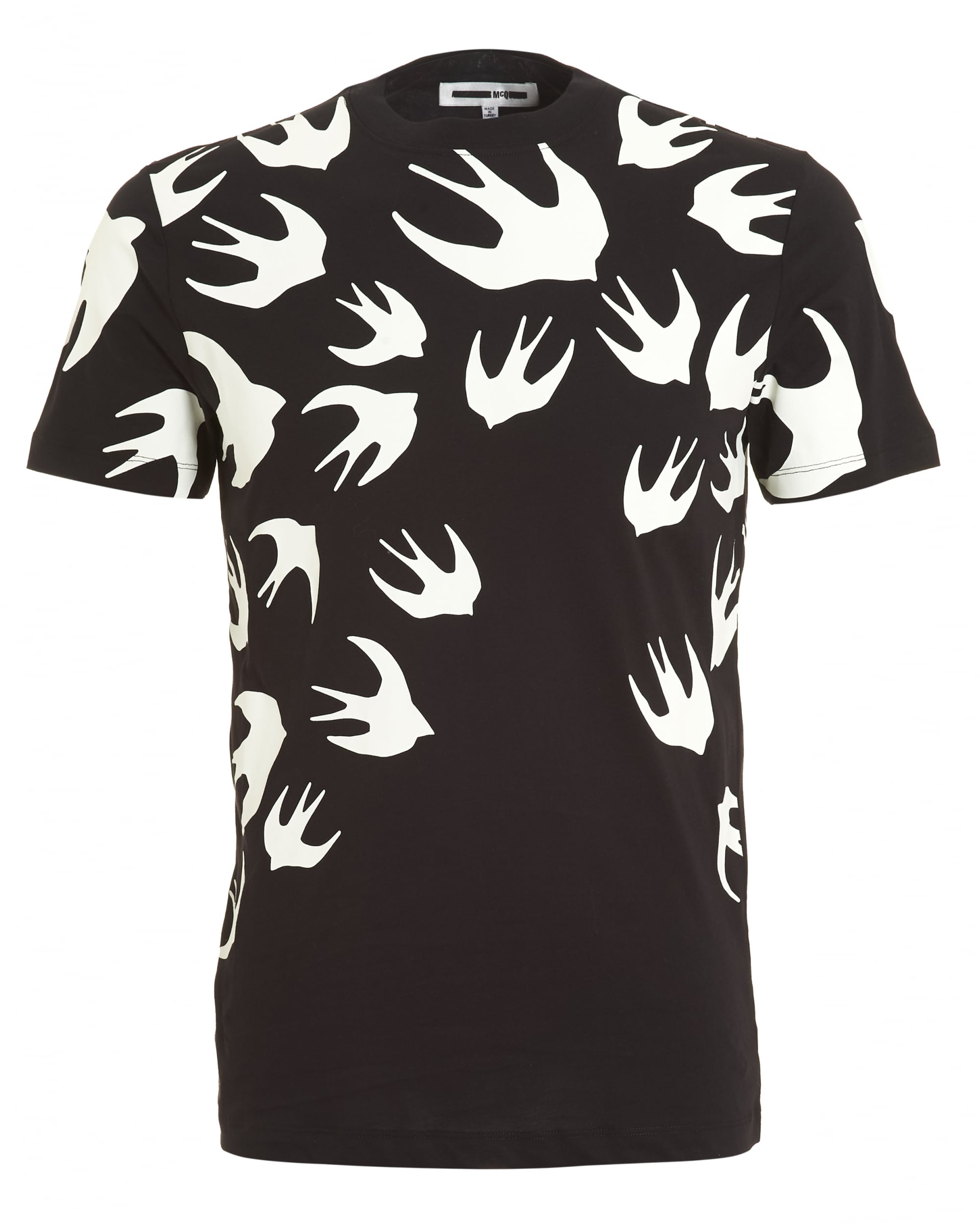 Mcq by alexander mcqueen mens swallow swarm print t shirt for Alexander mcqueen shirt men