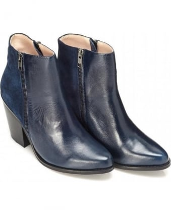 Melody Boot Navy Leather Boot