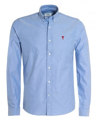 Mens Ami de Coeur Button Down Sky Blue Shirt