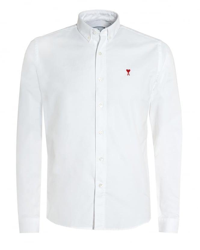 Ami Mens de Coeur Button Down White Shirt