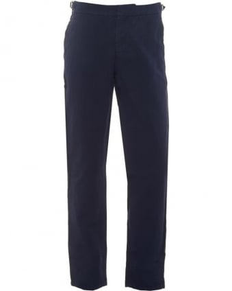 Mens Bedlington Trousers, Navy Linen Blend Tailored Trouser