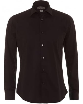 Mens Black Slim Fit Shirt