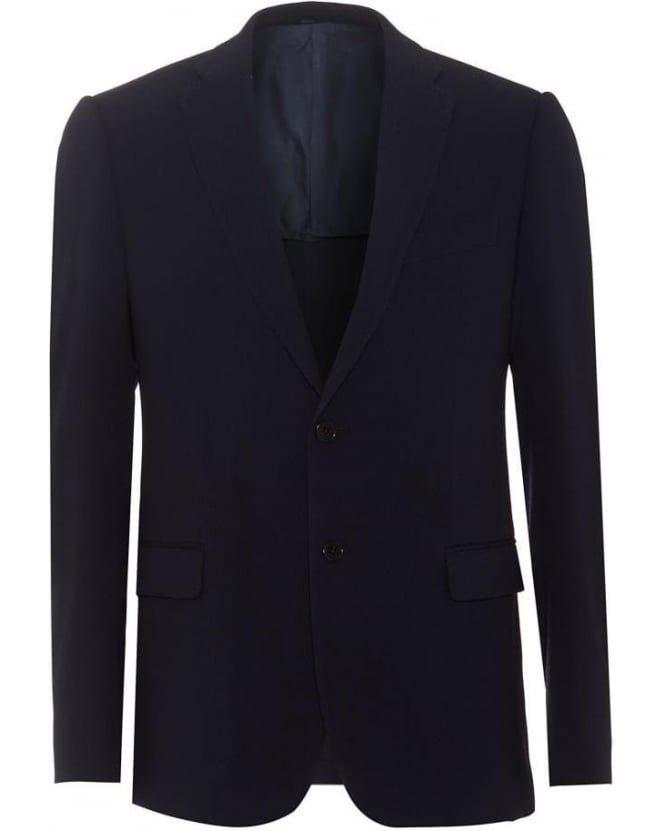 Armani Collezioni Mens Blazer Navy Blue Wool Blend Jacket