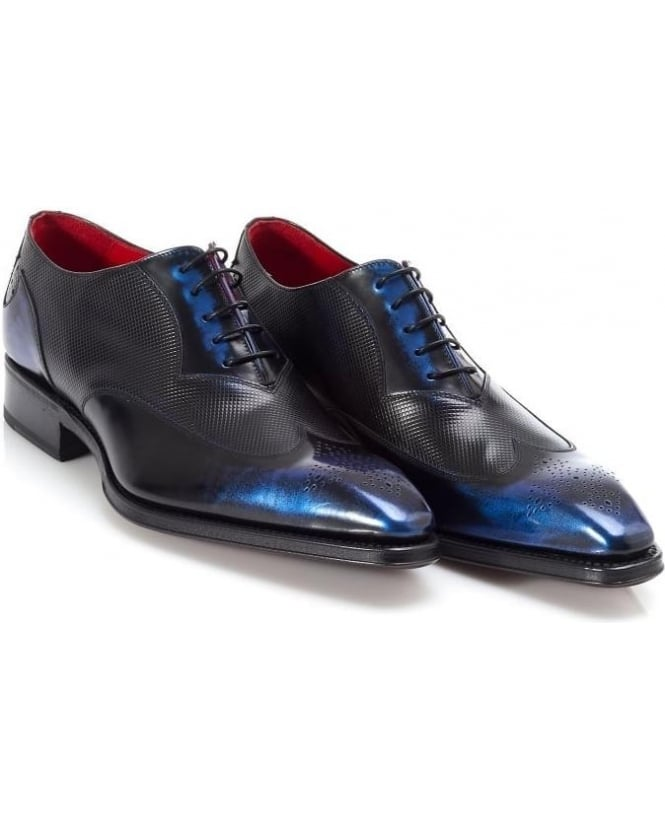 Jeffery West Shoes Mens Blue Miller Moon Oxford Shoe