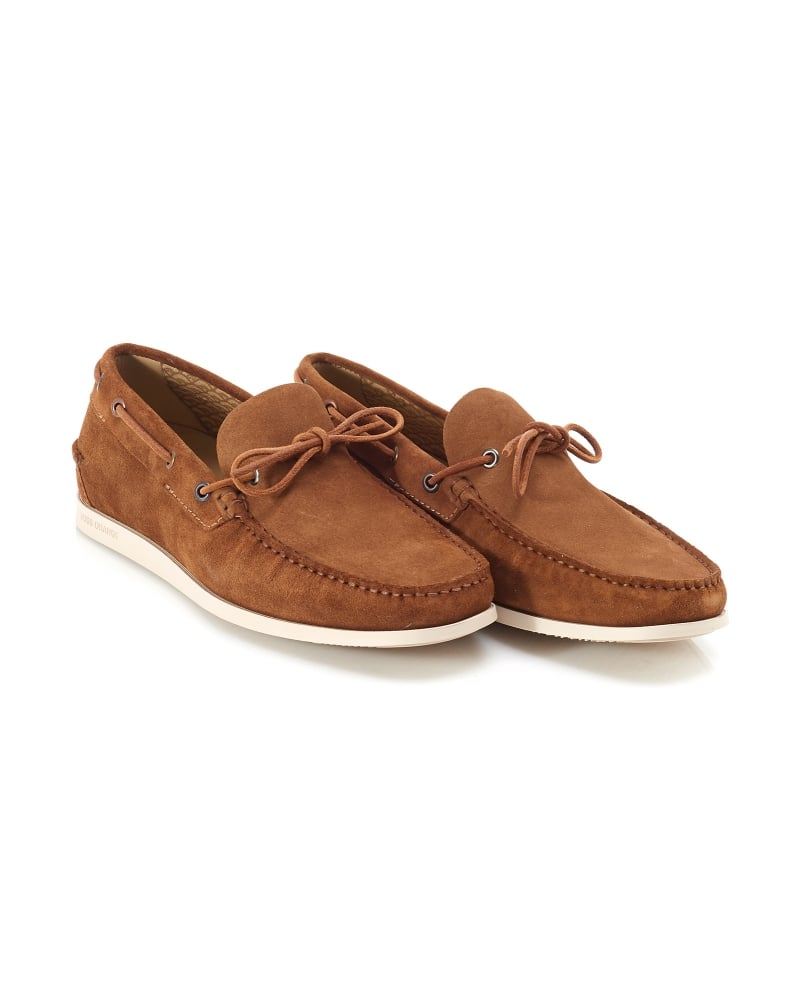 hugo orange mens boat shoes newlan suede deck shoe