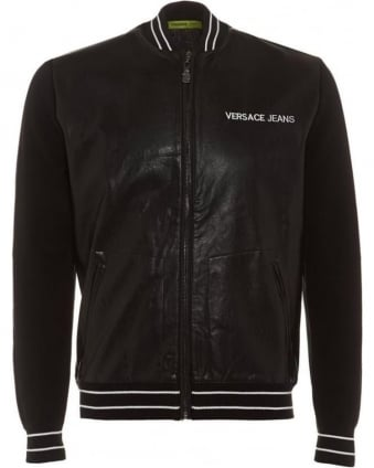 Mens Bomber Jacket Black Faux Leather Jacket