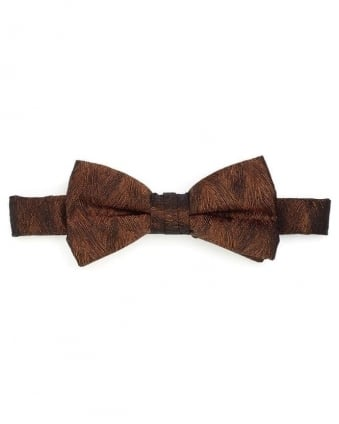 Mens Bow Tie Gold Sketch Honeycomb Clip Tie