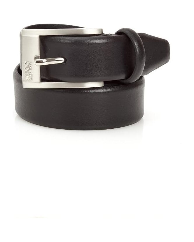 Hugo Boss - Hugo Mens C-Brandon Belt Black Leather Business Belt