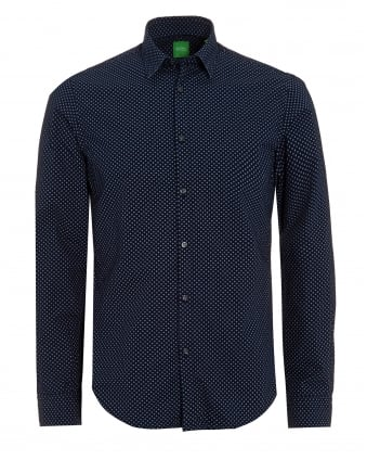 Mens C-Briar Micro Pattern Shirt Navy