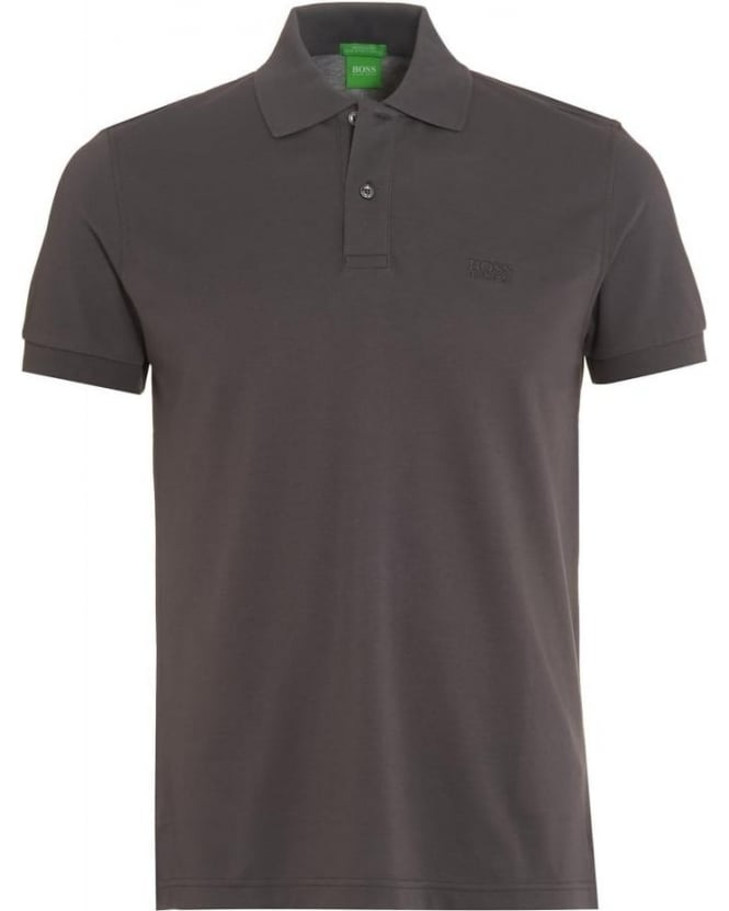 Hugo Boss Green Mens C-Firenze Logo Polo Shirt, Magnet Grey Polo