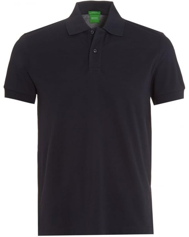 Hugo Boss Green Mens C-Firenze Logo Polo Shirt, Navy Blue Polo