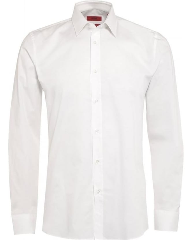 Hugo Boss - Hugo Mens C-Jery Shirt, Plain White Slim Fit