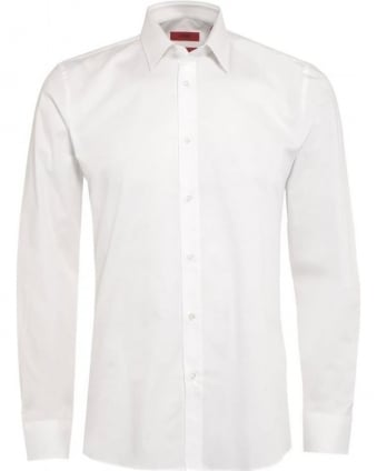 Mens C-Jery Shirt, Plain White Slim Fit