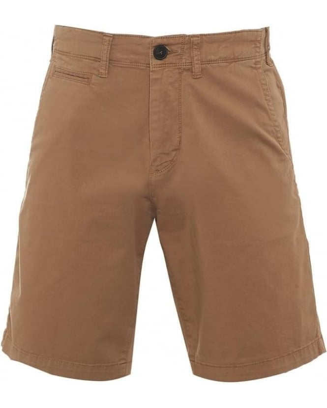 Armani Jeans Mens Chino Shorts Beige Regular Cotton Twill Short