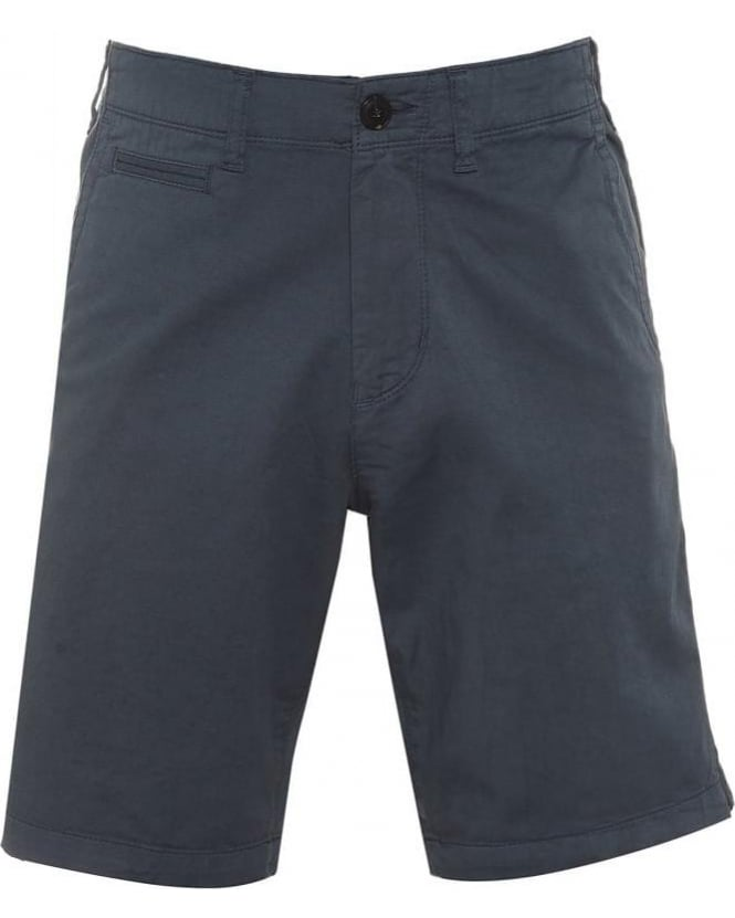 Armani Jeans Mens Chino Shorts Blue Regular Cotton Twill Short