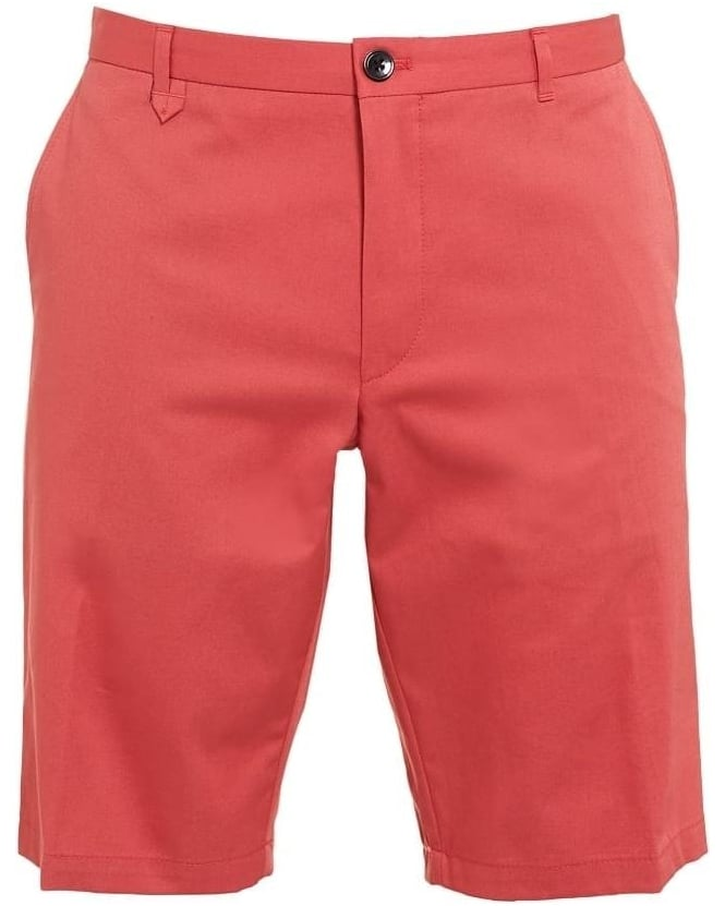 Hugo Boss - Hugo Mens Chino Shorts Hano1 Coral Pink Slim Fit Short