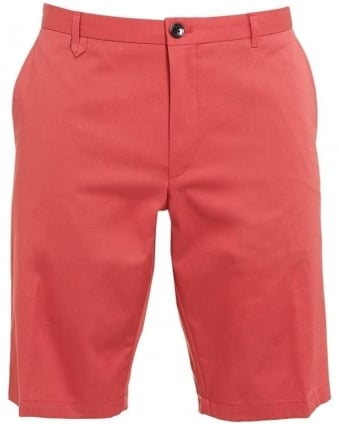Mens Chino Shorts Hano1 Coral Pink Slim Fit Short