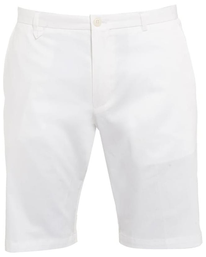 Hugo Boss - Hugo Mens Chino Shorts Hano1 White Slim Fit Short