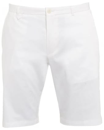 Mens Chino Shorts Hano1 White Slim Fit Short