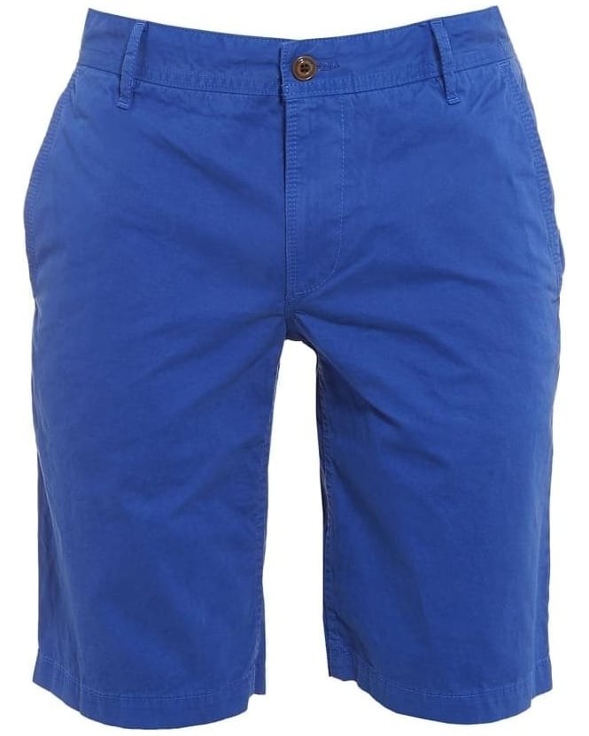 Hugo Boss Orange Mens Chino Shorts Schino Plain Regular Fit Blue Short