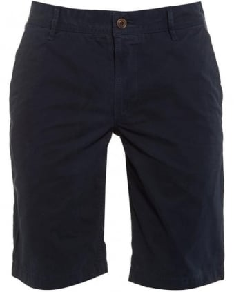 Mens Chino Shorts Schino Plain Regular Fit Dark Blue Short