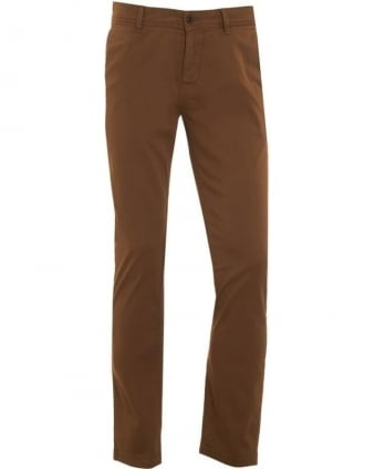 Mens Chinos Brown Schino-Slim1-D Trousers