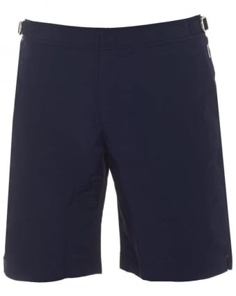 Mens Dane 2 Swim Shorts, Navy Blue Long Length Trunks