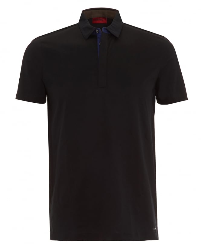Hugo Boss - Hugo Mens Dellos Polo Shirt, Black Regular Fit Polo