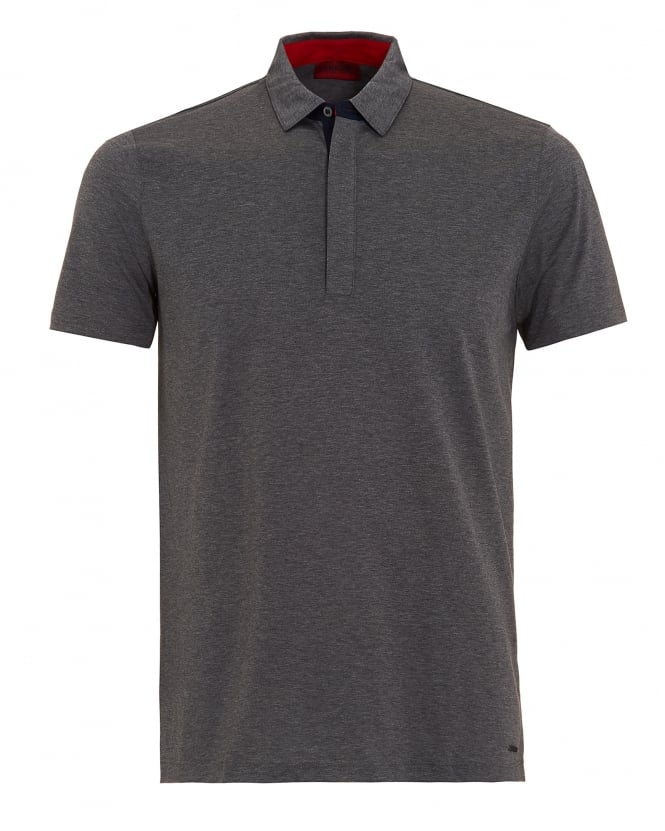 Hugo Boss - Hugo Mens Dellos Polo Shirt, Grey Regular Fit Polo