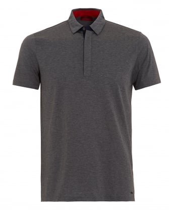 Mens Dellos Polo Shirt, Grey Regular Fit Polo