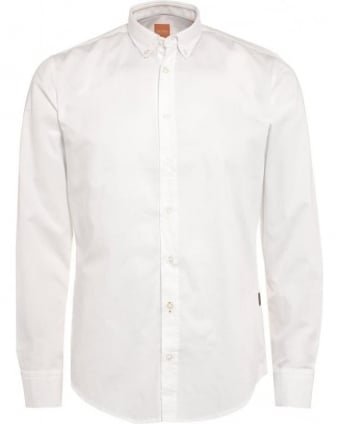 Mens EdipoE Shirt, Plain White Button Down