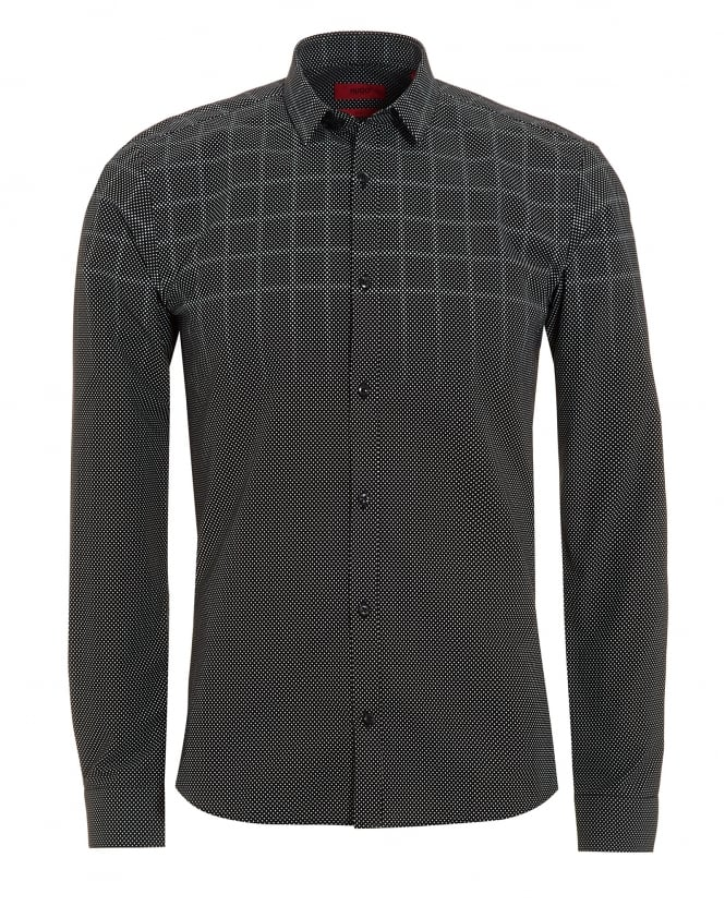 Hugo Boss - Hugo Mens Ero3 Shirt, Gradient Grey Polka Dot Check Shirt