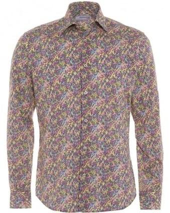 Mens Floral Print Slim Fit Cotton Shirt