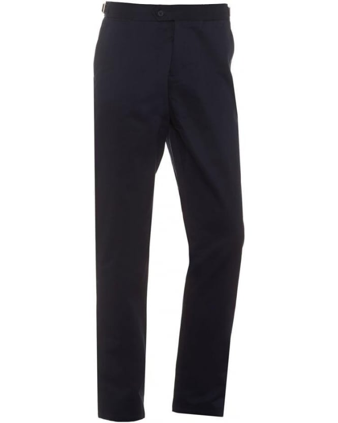 Orlebar Brown Mens Griffon Trousers, Navy Blue Heavyweight Cotton Tailored Trouser
