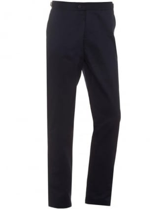 Mens Griffon Trousers, Navy Blue Heavyweight Cotton Tailored Trouser