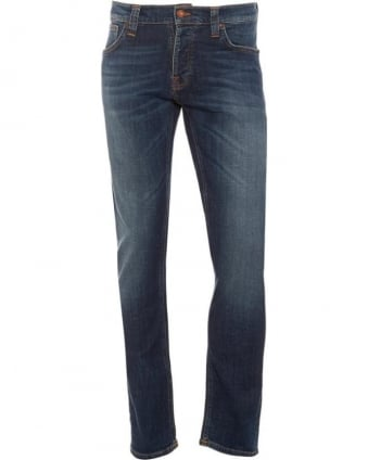 Mens Grim Tim Jean, Bright Dawn Blue Organic Stretch Denim