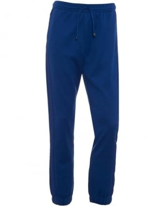 Mens Hadiko Track Pants Blue Cuffed Trackpant