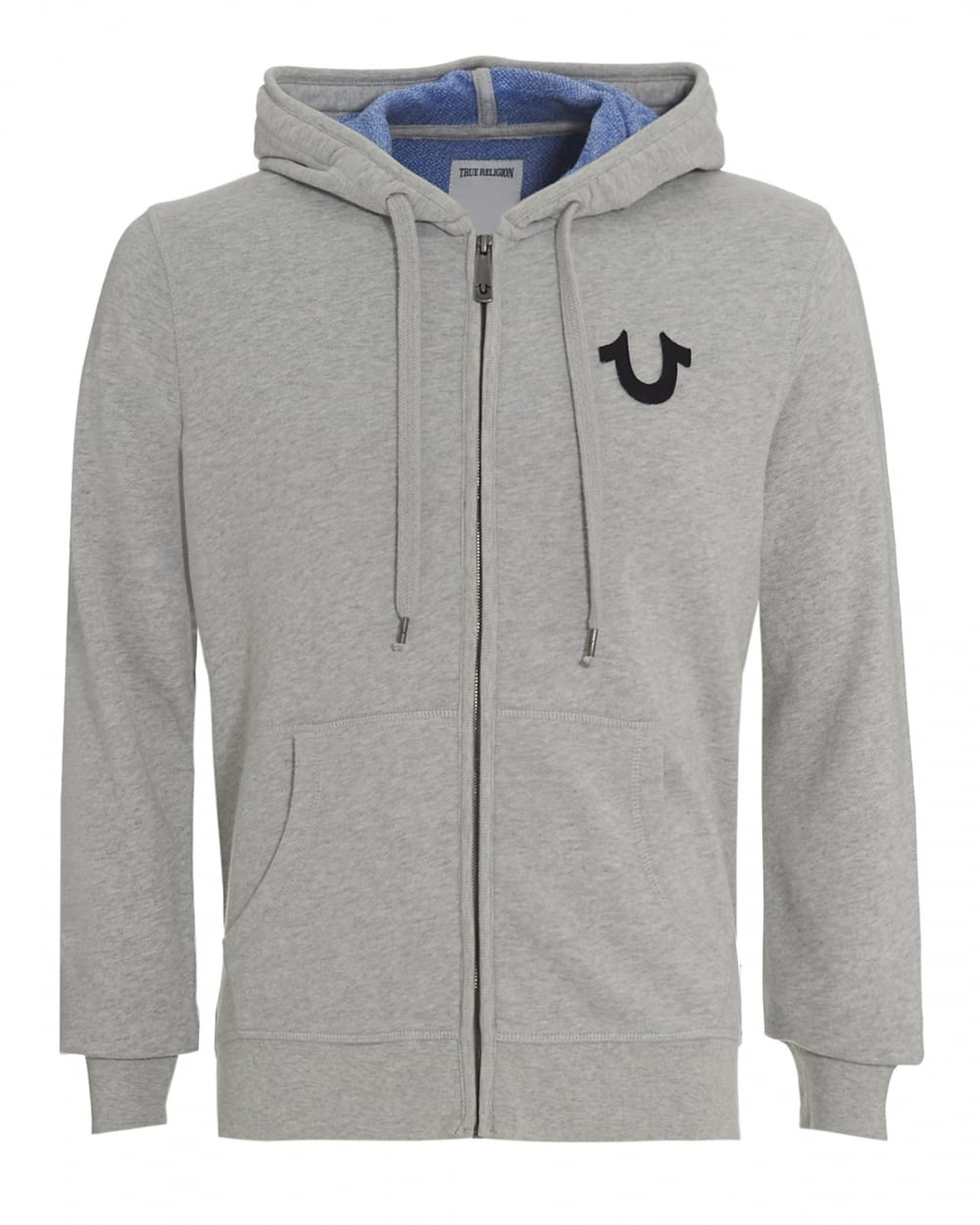 true religion jeans mens hoodie grey buddha graphic zip up hoodie. Black Bedroom Furniture Sets. Home Design Ideas