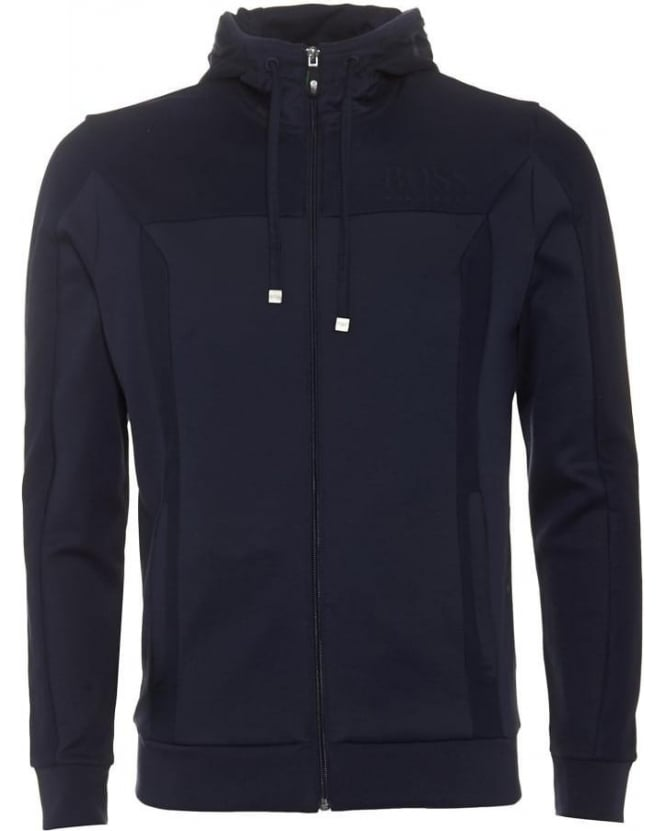 Hugo Boss Green Mens Hoodie Saggy Dark Blue Sweatshirt