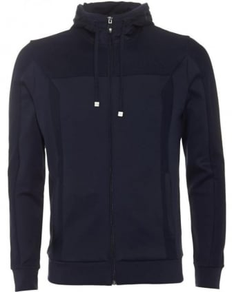 Mens Hoodie Saggy Dark Blue Sweatshirt