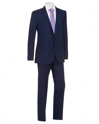 Mens Huge Genius Suit, Blue Textured Suit