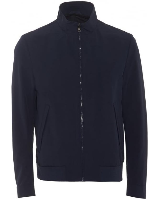 Hugo Boss Black Mens Jacket Carlten Water-Repellent Travel Navy Jacket