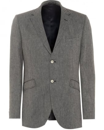 Mens Jacket Grey Broken Twill Classic Blazer