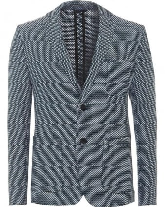 Mens Jacket Marcoz21 Slim Navy White Blazer