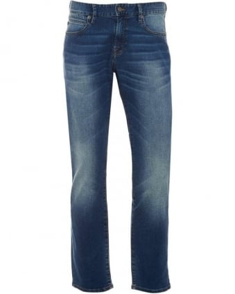 Mens Jeans 24 Barcelona Jump Jean Dark Voice Wash Denim