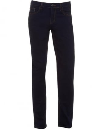 Mens Jeans Bronze Stitch Slim Dark Indigo Jean