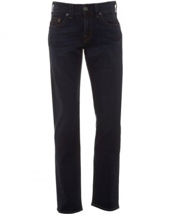 Mens Jeans Dark Ink, Geno Regular Rolling Water Jean