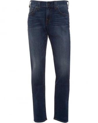 Mens Jeans Geno Tapered Leg Lake View Mid Whisker Jean