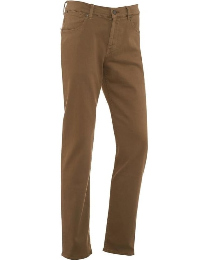 For All Mankind Mens Jeans Khaki Luxe Performance Slim Jean