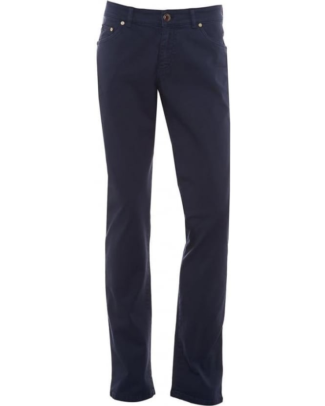 Etro Mens Jeans Regular Fit Tapered Navy Blue Jean